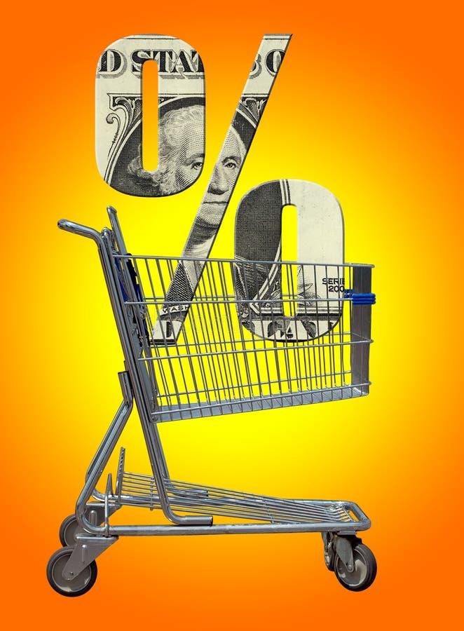 O custo de dinheiro ilustração stock