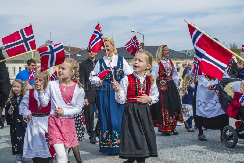 O décimo sétimo de pode, o dia nacional de Noruega foto de stock