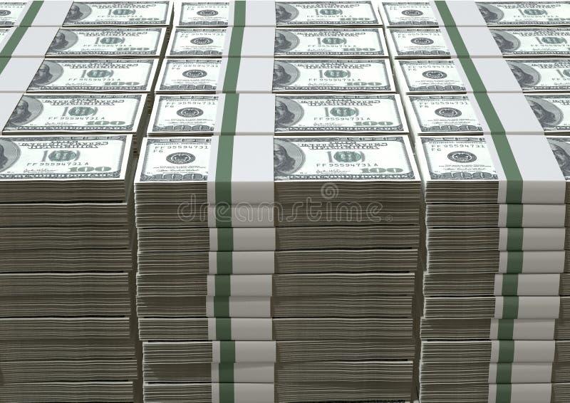 O dólar americano nota a pilha fotografia de stock royalty free
