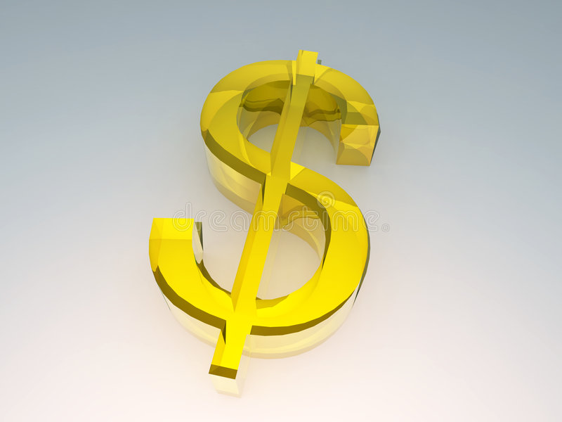 O dólar dourado 1 ilustração do vetor