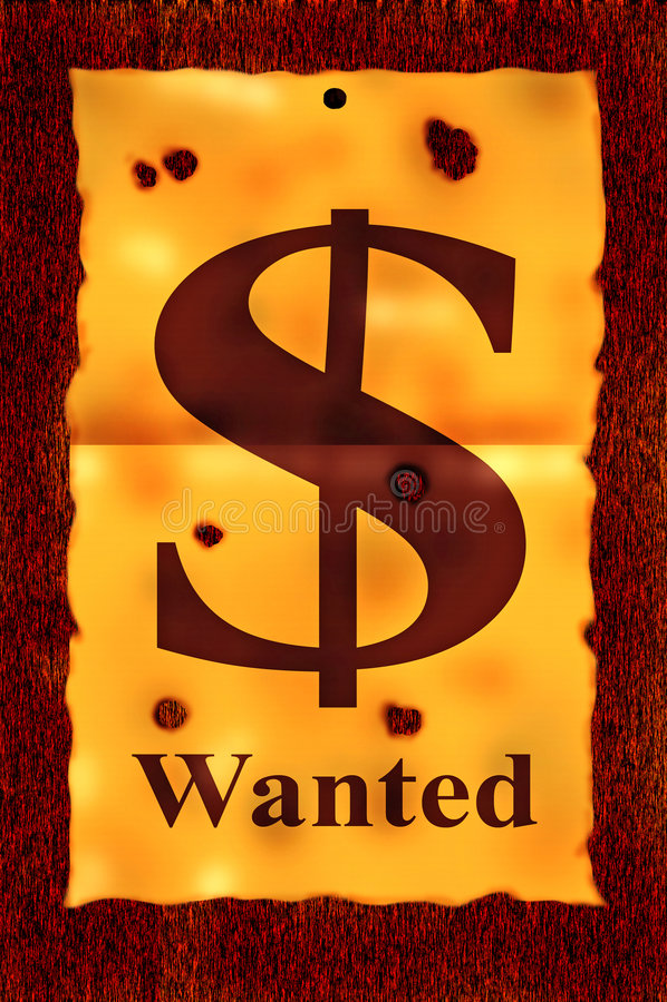 O dólar quis o poster. ilustração stock