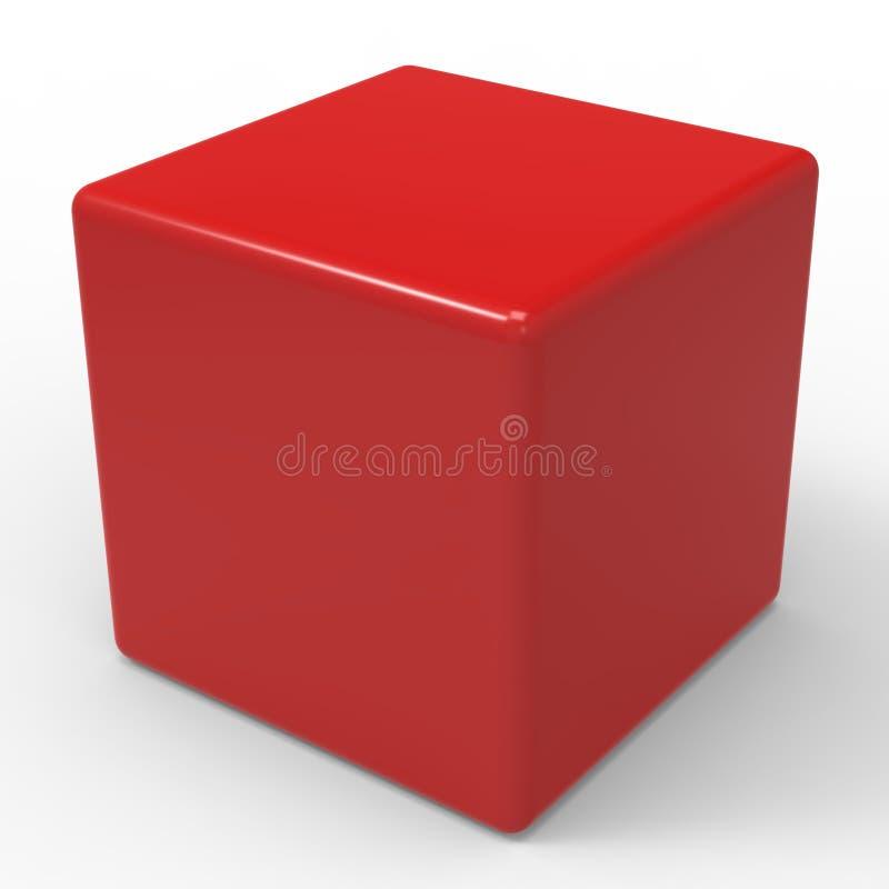 O dado vermelho vazio mostra o cubo ou a caixa de Copyspace ilustração do vetor