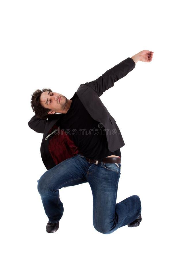 O dançarino de bailado à moda aquece no movimento fotos de stock royalty free