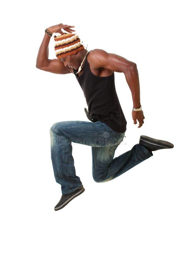 O dançarino salta foto de stock royalty free