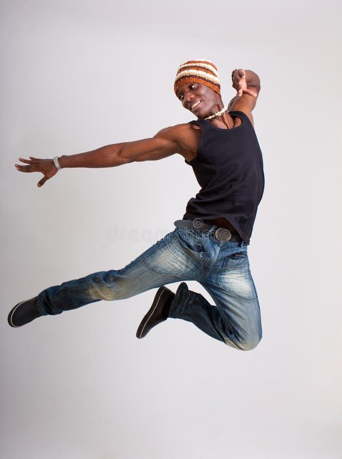 O dançarino salta foto de stock