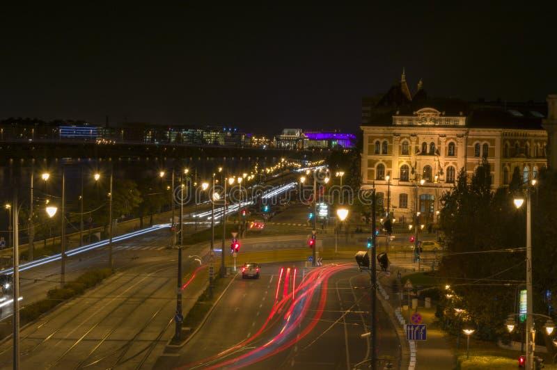 O Danúbio e o tráfego imagem de stock