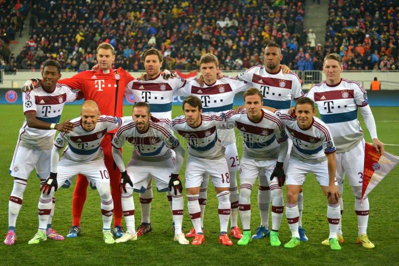 O ¼ de FC Baviera MÃ nchen a equipe fotos de stock