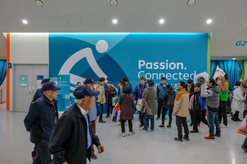 O 12 de março 2018 Jogos 2018 de Peyongchang Paralympic em Kore sul imagem de stock royalty free