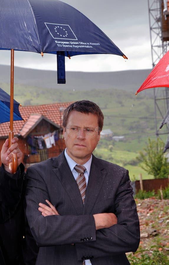 O ½ de Samuel Å bogar é um diplomata e um político eslovenos foto de stock