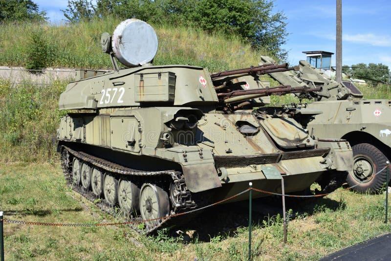 O ` de Shylka do ` ZSU-23-4 é um automotor soviético levemente blindado, o sistema de armas antiaéreo guiado radar SPAAG imagens de stock royalty free
