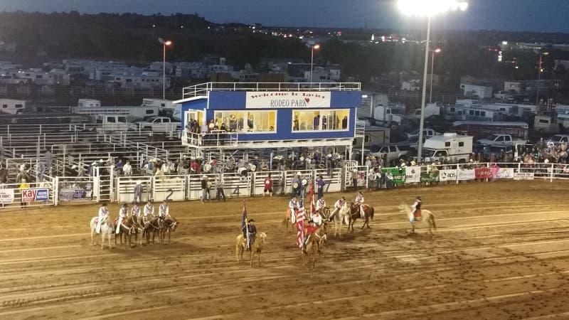 4o de Taylor AZ 2016 da bandeira do rodeio de julho imagens de stock