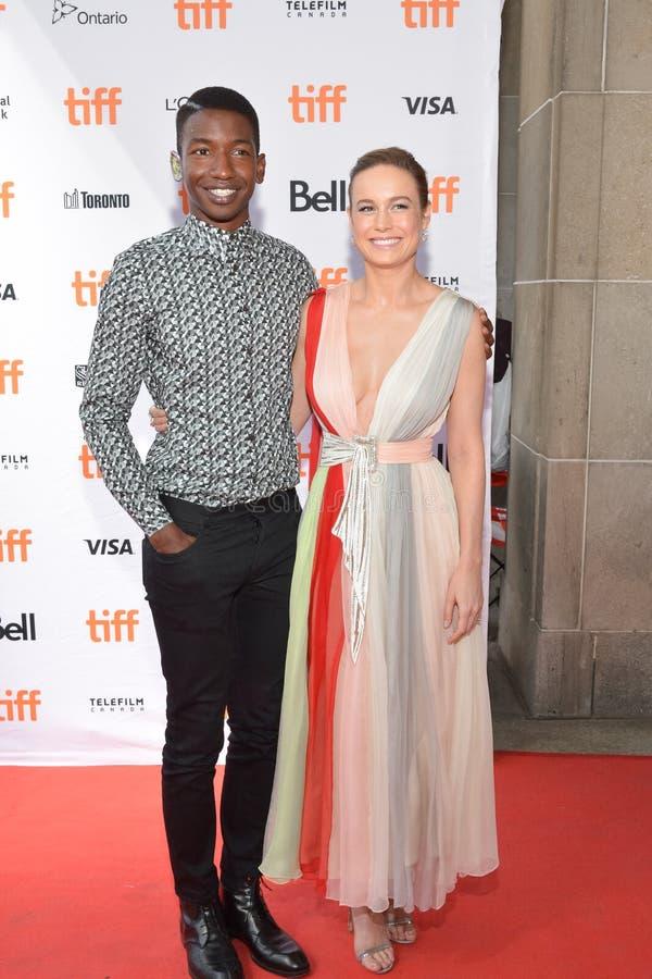 O ` de Unicorn Store do ` de Mamoudou Athie de Brie Larson e do ator premiere no festival de cinema 2017 do International de Toro imagens de stock
