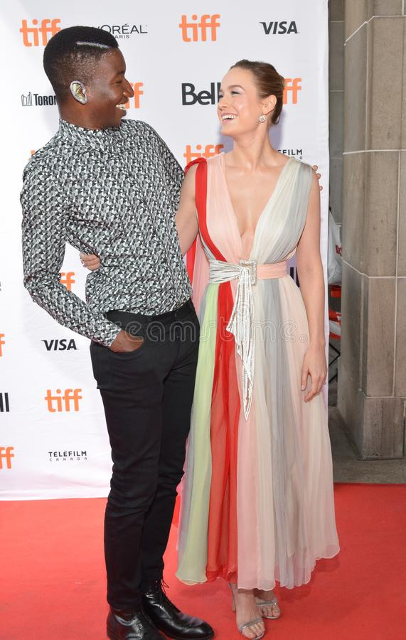 O ` de Unicorn Store do ` de Mamoudou Athie de Brie Larson e do ator premiere no festival de cinema 2017 do International de Toro imagem de stock