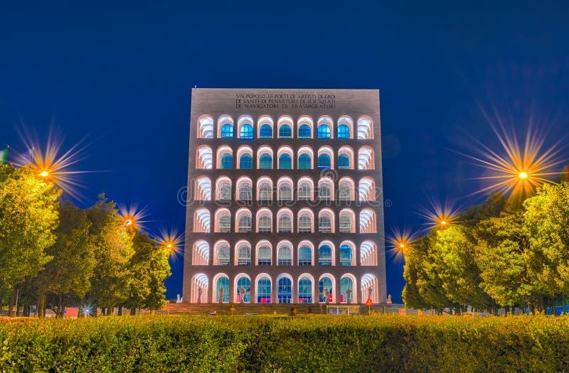 O della Civiltà Italiana, aka Colosseum quadrado de Palazzo, Roma, foto de stock royalty free