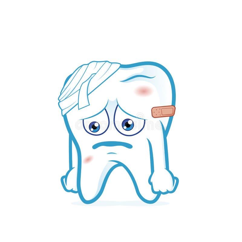 O dente seja ferido ilustração do vetor