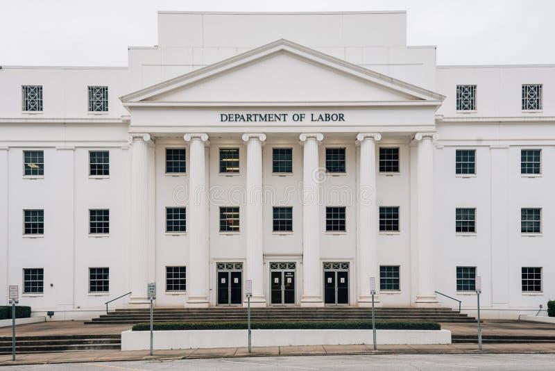 O departamento de trabalha a construção em Montgomery, Alabama fotografia de stock royalty free