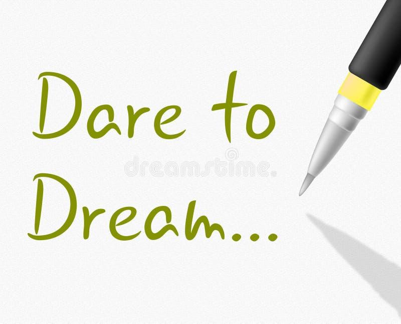 O desafio ao sonho indica planos e alvo do plano ilustração royalty free