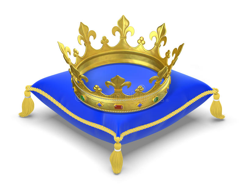 O descanso real com coroa ilustração do vetor