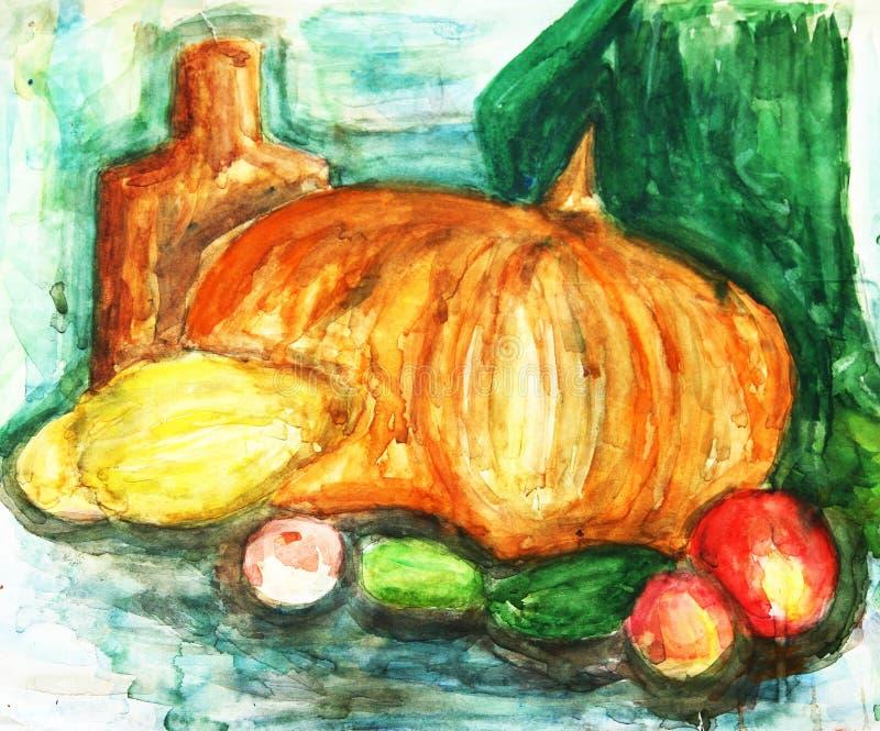 O desenho abstrato fêz a criança ilustração stock