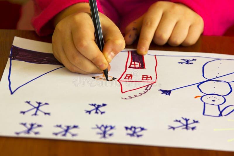 O desenho das crianças imagem de stock