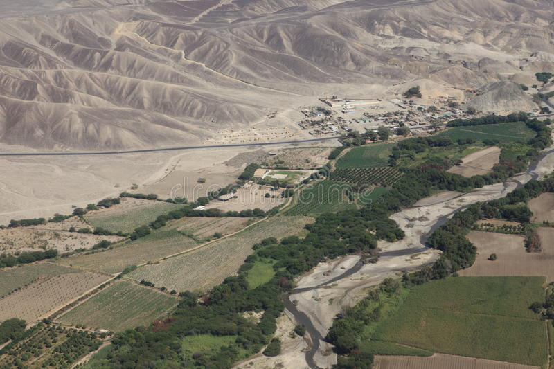O deserto de Nazca foto de stock royalty free