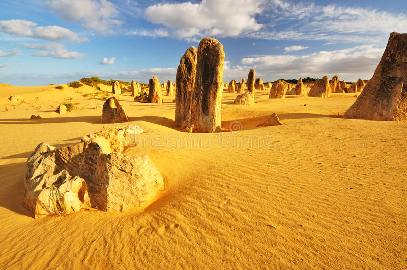 O deserto dos pináculos, Austrália Ocidental foto de stock royalty free