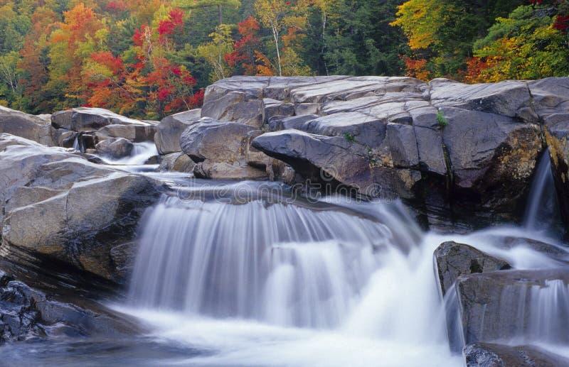 O desfiladeiro, de New-Hampshire fotografia de stock