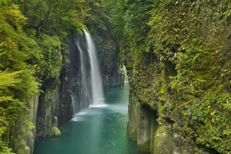 O desfiladeiro de Takachiho na ilha de Kyushu, Japão imagens de stock royalty free