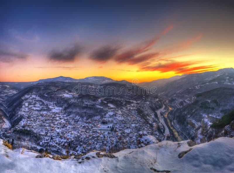 O desfiladeiro do rio de Iskar, Bulgária foto de stock