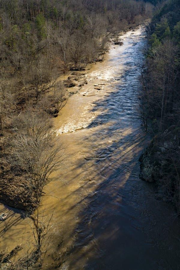 O desfiladeiro do rio de Roanoke imagem de stock