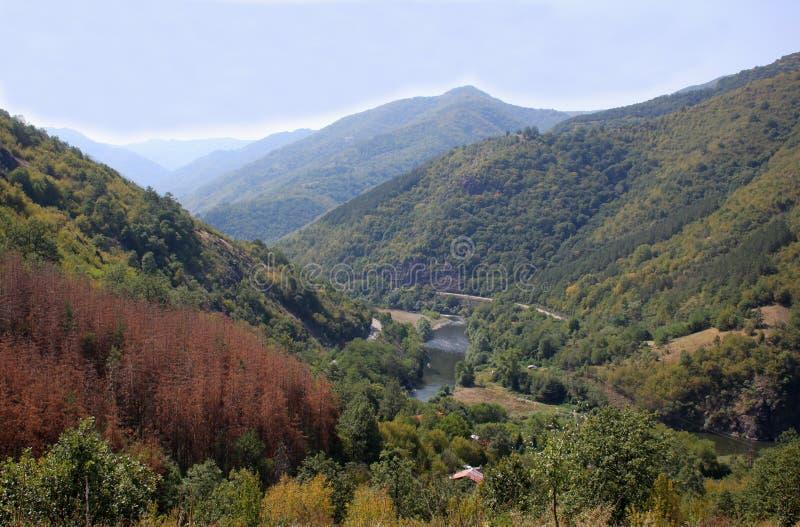 O desfiladeiro do rio Iskar foto de stock royalty free