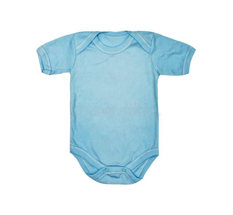 O desgaste das crianças - romper da roupa do bodysuit dos azuis bebê da criança, dorminhoco imagens de stock royalty free