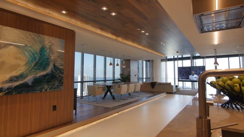 O design de interiores moderno da casa imagens de stock