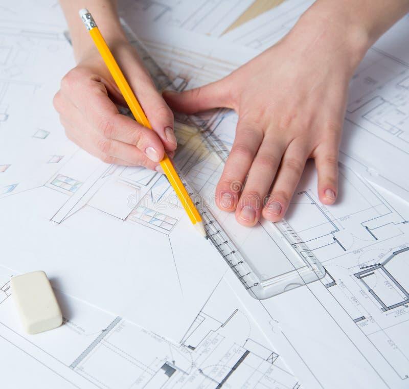 Download Detalhes Do Desenho Da Mão Do Interior Ilustração Stock - Ilustração de dimensões, arquiteto: 29834274