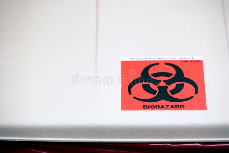 O desperdício de Biohazard pode imagens de stock royalty free