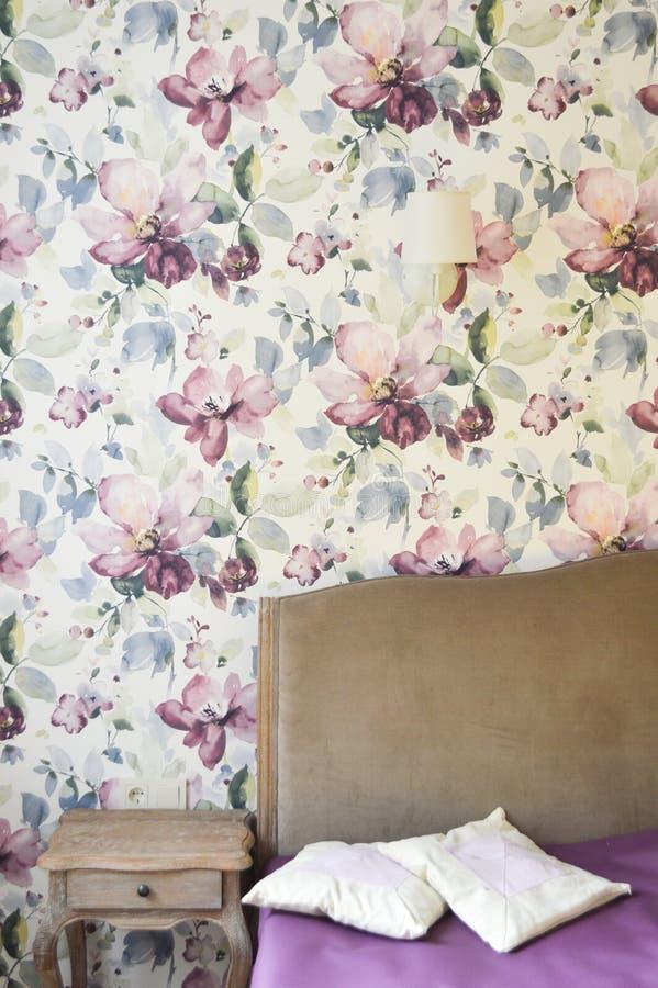 O detalhe elegante do interior do quarto fotos de stock royalty free