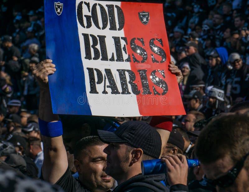 O deus abençoa Paris fotografia de stock royalty free