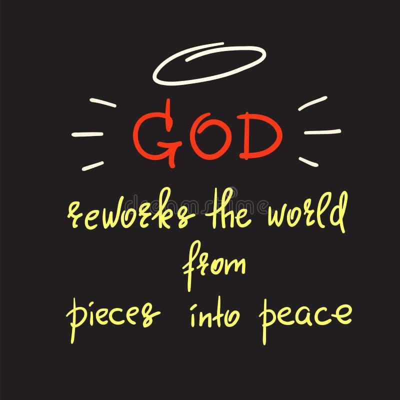 O deus reworks o mundo das partes na paz ilustração do vetor