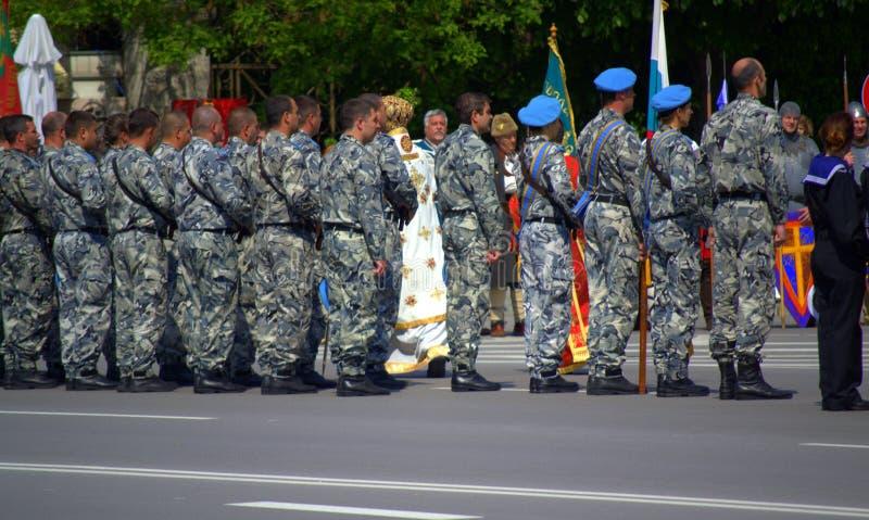 O dia da bravura e do exército búlgaro fotos de stock royalty free