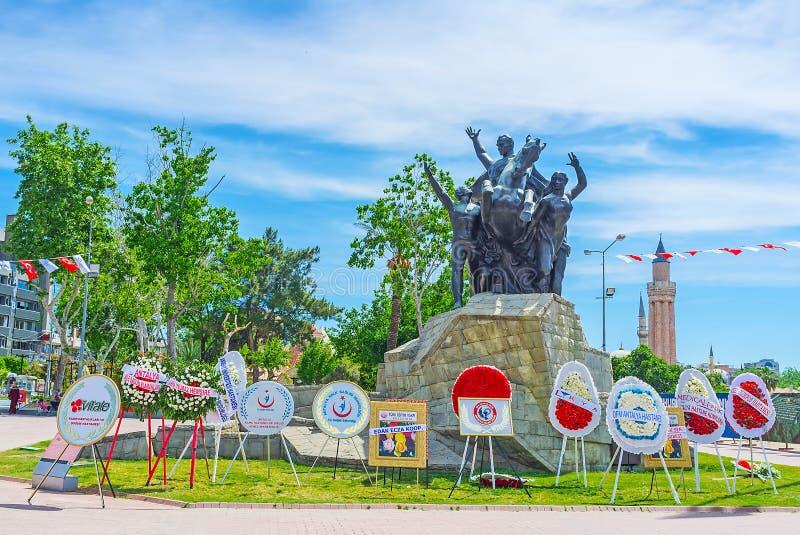 O dia da indústria farmacêutica em Antalya fotos de stock