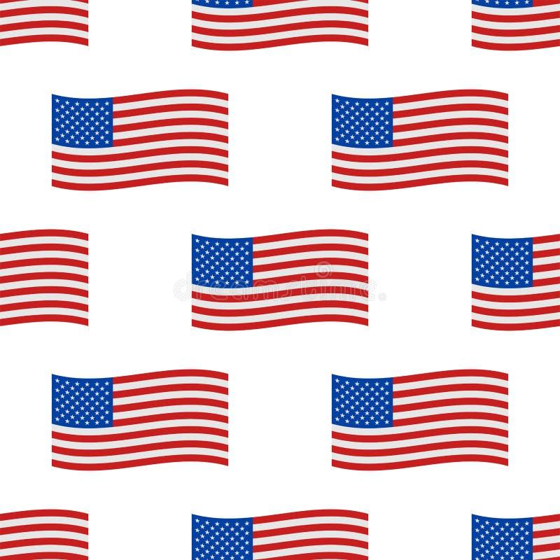 O Dia da Independência EUA embandeira a ilustração nacional do vetor do sinal da liberdade americana sem emenda do símbolo do Est ilustração royalty free