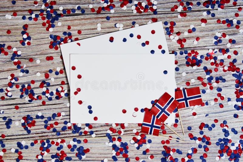 O Dia da Independência norueguês, dia da constituição, pode 17 feriado da liberdade, da vitória e da memória, dia livre O conceit imagens de stock royalty free
