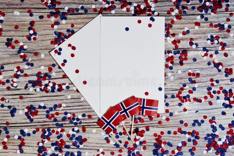 O Dia da Independência norueguês, dia da constituição, pode 17 feriado da liberdade, da vitória e da memória, dia livre O conceit imagens de stock