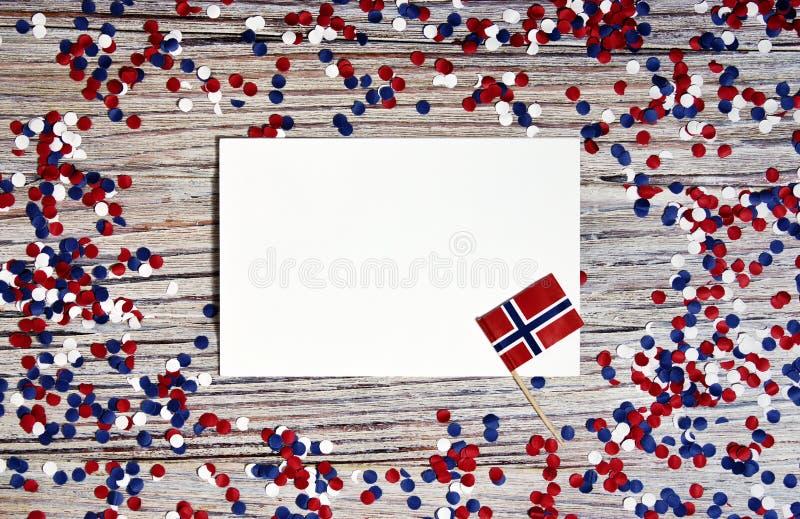 O Dia da Independência norueguês, dia da constituição, pode 17 feriado da liberdade, da vitória e da memória, dia livre O conceit fotos de stock