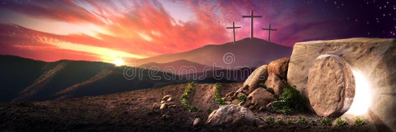 O dia da ressurreição fotografia de stock royalty free