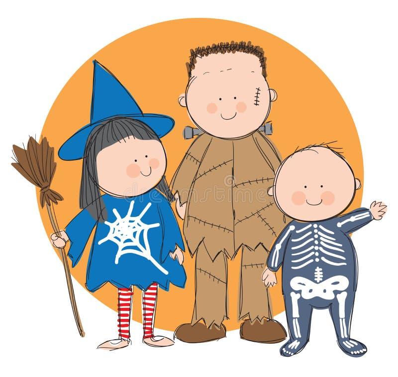 O Dia das Bruxas ilustração royalty free
