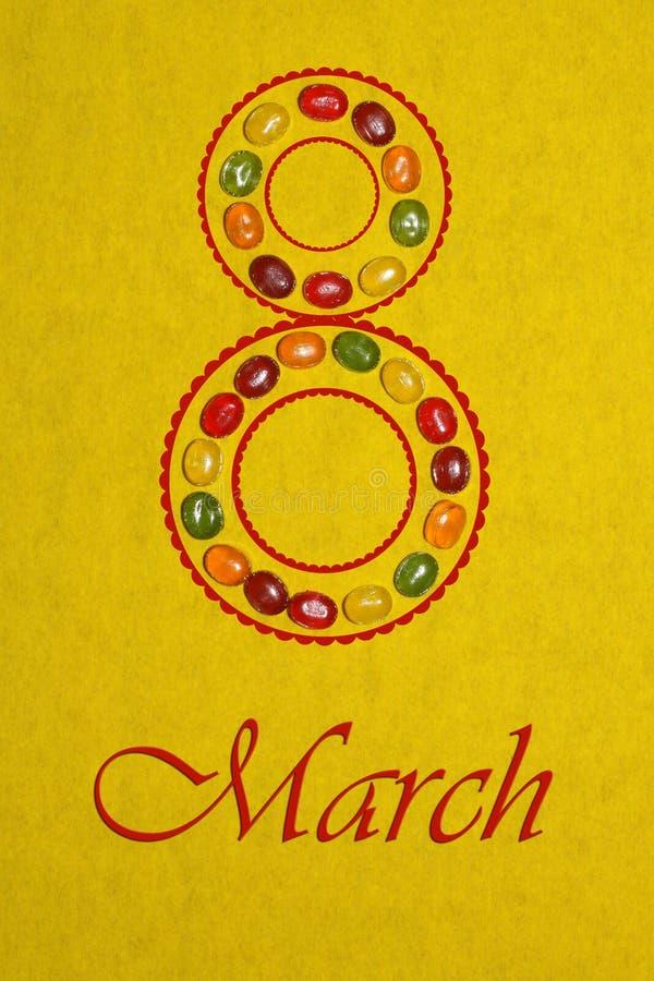 O dia das mulheres de oitavo março dos doces fotografia de stock royalty free