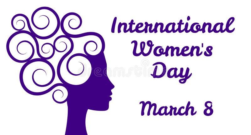 O dia das mulheres internacionais ilustração royalty free