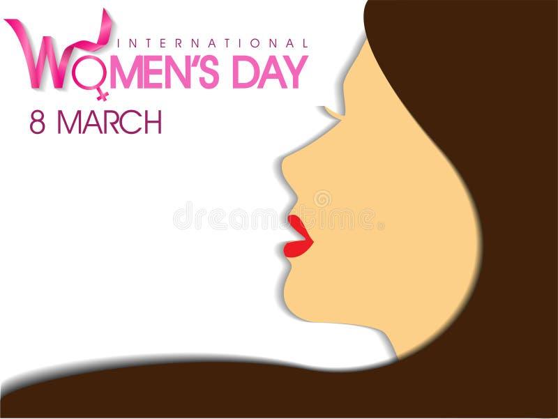 O dia das mulheres internacionais ilustração do vetor