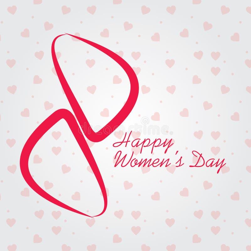 O dia das mulheres internacionais o 8 de março, cartão do dia das mulheres felizes ou fundo ilustração royalty free